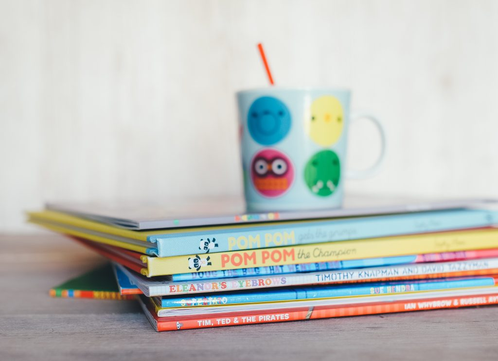 kids book stack