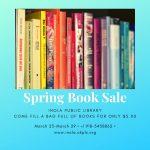 Spring Book Sale Flyer