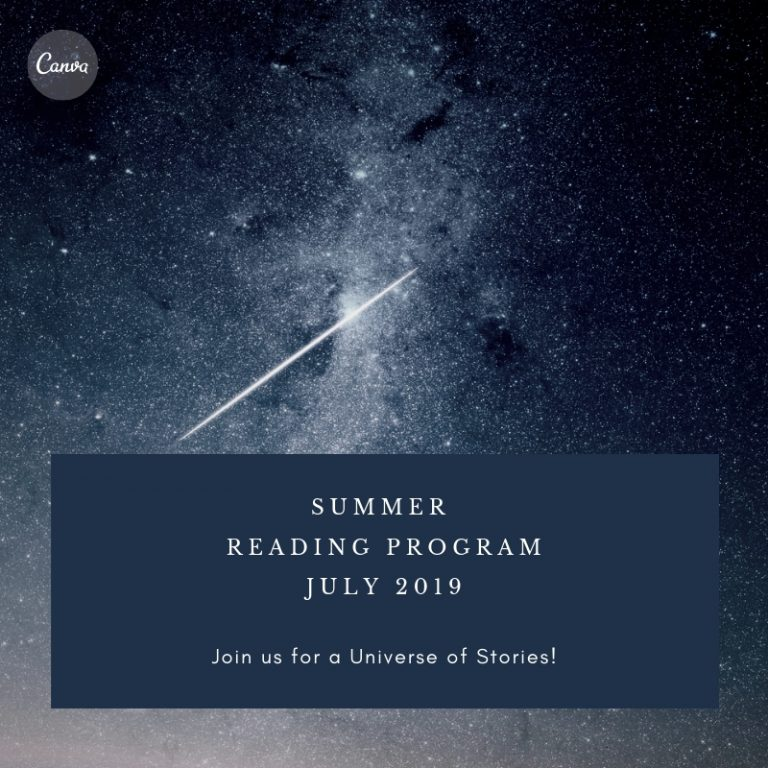 our summer reading program for July 2019